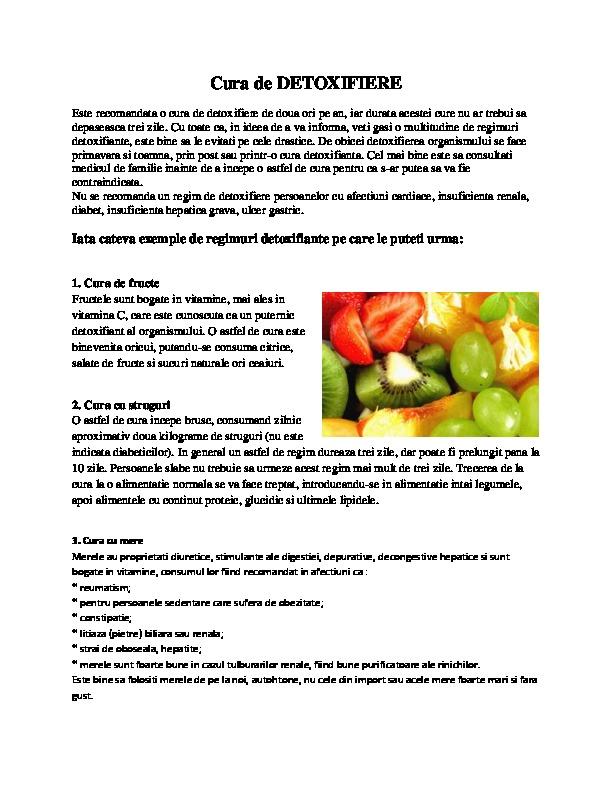 Plan de detoxifiere pentru 7 zile