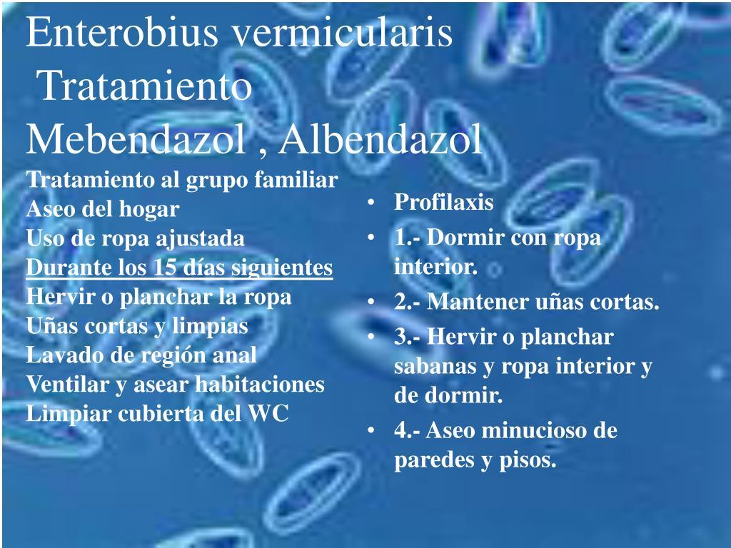 Anti Parasit Os - Los oxiuros tratamiento - Enterobiasis tratamiento