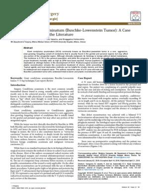Condyloma acuminata literature review. Ovidiu Bratu - Google Scholar Citations