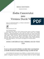 Zodia cancerului sau vremea Ducai - Vodă de Mihail Sadoveanu - rezumat