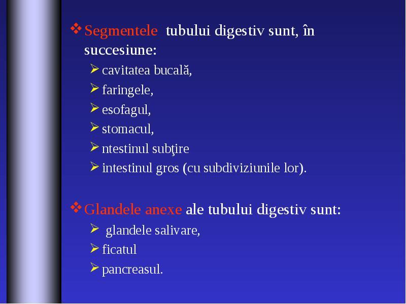 sunt organele digestive curbate