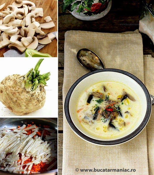 Ciorba a la grec de ciuperci | Mâncare, Ciuperci, Supe