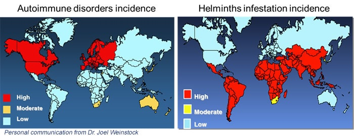 Helminth therapy and autoimmune diseases. Helminth therapy autoimmune diseases
