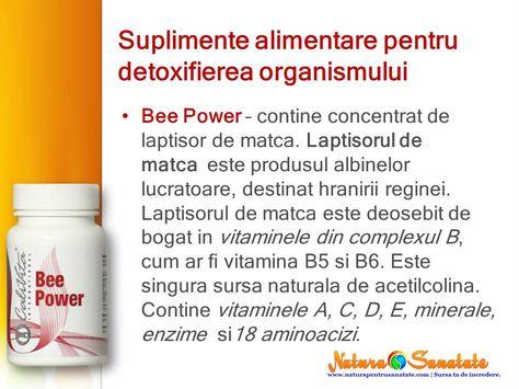 detoxifiere suplimente nutritive